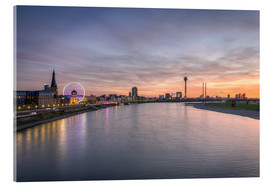 Acrylic glass  Dusseldorf Skyline, Germany - Michael Valjak