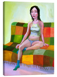 Canvas print  Woman on sofa II - Diego Manuel Rodriguez