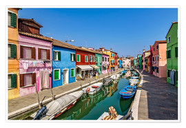 Poster  Fishing village of Burano - Achim Thomae