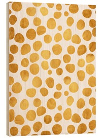 Wood print  Gold spots - Uma 83 Oranges