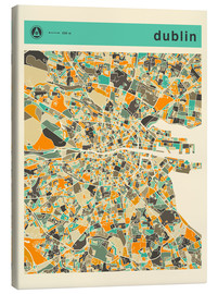 Canvas print  DUBLIN MAP - Jazzberry Blue
