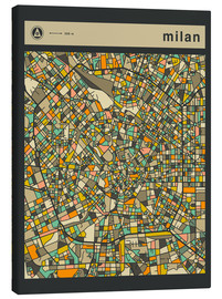 Canvas print  MILAN MAP - Jazzberry Blue