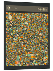 Foam board print  BERLIN MAP - Jazzberry Blue