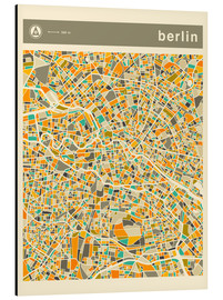 Aluminium print  BERLIN MAP - Jazzberry Blue
