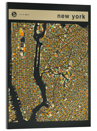 Acrylic print  NEW YORK MAP - Jazzberry Blue