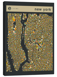Canvas print  NEW YORK MAP - Jazzberry Blue