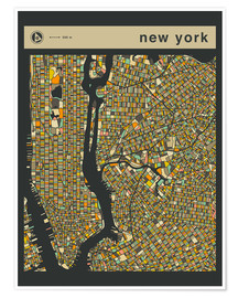 Premium poster NEW YORK MAP