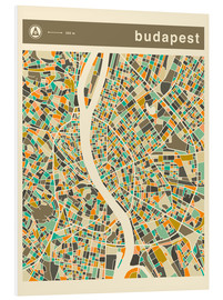 Forex  BUDAPEST MAP - Jazzberry Blue