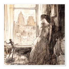 Premium poster  View from the window - Henri Patrick Raleigh