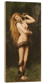 Wood print  Lilith - John Collier