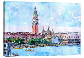 Canvas print  Venice Serenissima with St. Marks Bell Tower and Doge Palace - M. Bleichner