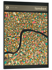 Acrylic print  LONDON MAP - Jazzberry Blue