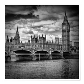 Premium poster LONDON Houses of Parliament & Westminster Bridge
