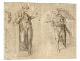 Foam board print  The Annunciation to Mary - Michelangelo
