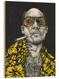 Wood print  Fear and Loathing - Inked Ikons