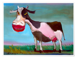 Premium poster  Snazzy cow - Diego Manuel Rodriguez