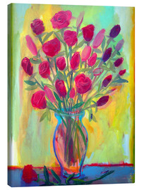 Canvas print  Roses in glass vase - Diego Manuel Rodriguez
