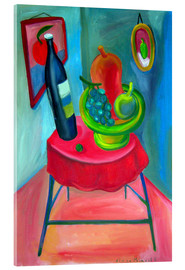 Acrylic glass  Table and wine - Diego Manuel Rodriguez