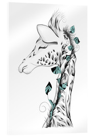 Acrylic glass  Poetic Giraffe - LouJah