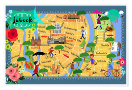 Poster LUEBECK map