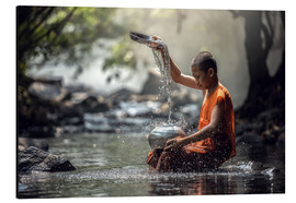 Aluminium print  Monk at the Water