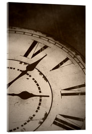 Acrylic print  picture of an old vintage clock