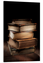 Acrylic print  Old books in a pile