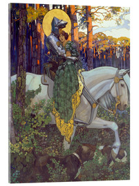 Acrylic print  The legend of Saint George, Salvation - Maximilian Liebenwein