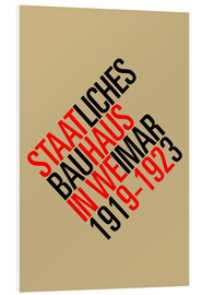 Foam board print  STAATLICHES BAUHAUS (VINTAGE) - THE USUAL DESIGNERS