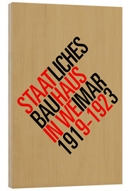 Wood print  STAATLICHES BAUHAUS (VINTAGE) - THE USUAL DESIGNERS