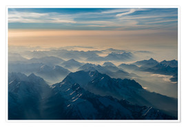 Premium poster Zugspitze in the haze