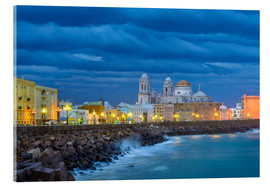 Acrylic print  Cadiz in the evening - Jörg Gamroth