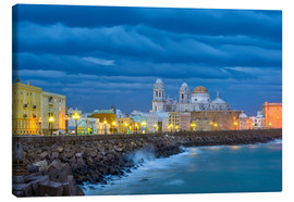Canvas print  Cadiz in the evening - Jörg Gamroth