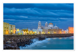 Premium poster Cadiz in the evening