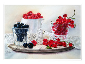 Premium poster summer berries