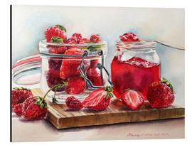 Aluminium print  Juicy strawberries - Maria Mishkareva