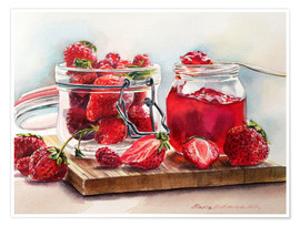Premium poster Juicy strawberries