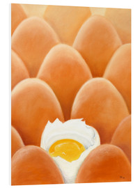 Foam board print  Fresh farm eggs - Monica Schwarz