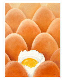 Poster  Fresh farm eggs - Monica Schwarz