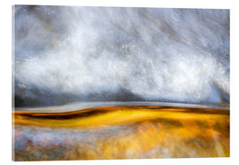 Acrylic print  Abstract Silver and Gold - Sander Grefte