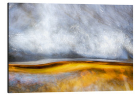 Aluminium print  Abstract Silver and Gold - Sander Grefte
