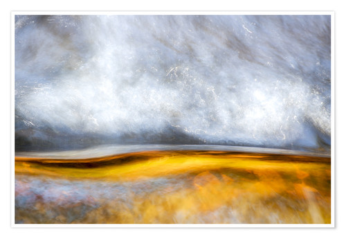 Premium poster Abstract Silver and Gold
