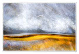 Premium poster  Abstract Silver and Gold - Sander Grefte