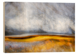 Wood print  Abstract Silver and Gold - Sander Grefte