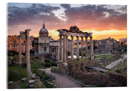 Acrylic print  Dramatic sunrise at the Roman Forum in Rome, Italy - Jan Christopher Becke