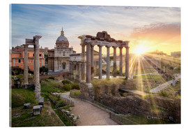 Acrylic print  Sunset at the Roman Forum in Rome, Italy - Jan Christopher Becke