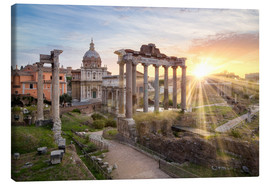 Canvas print  Sunset at the Roman Forum in Rome, Italy - Jan Christopher Becke