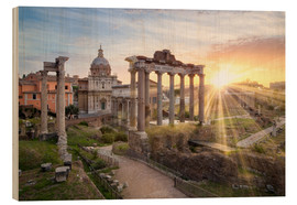 Wood  Sunset at the Roman Forum in Rome, Italy - Jan Christopher Becke