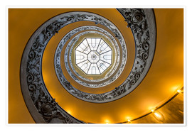 Premium poster  Spiral staircase in the Vatican Museum, Italy - Jan Christopher Becke