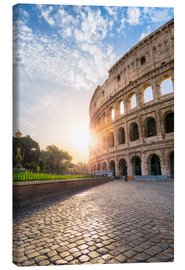 Canvas print  The Colosseum in Rome at sunrise - Jan Christopher Becke